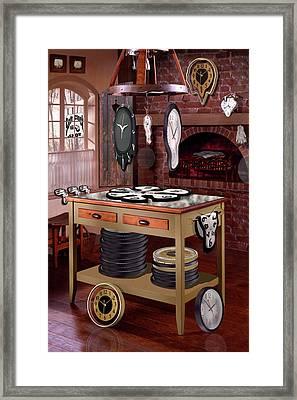 The Soft Clock Shop Framed Print by Mike McGlothlen