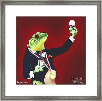 The Sommelier... Framed Print by Will Bullas