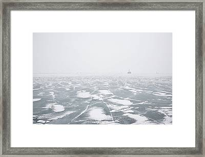 The Song Of Ice Framed Print by Joanna Madloch