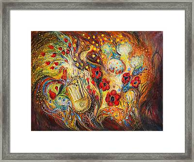 The Song Of Red Rooster Framed Print by Elena Kotliarker