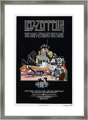 The Song Remains The Same, Us Poster Framed Print by Everett