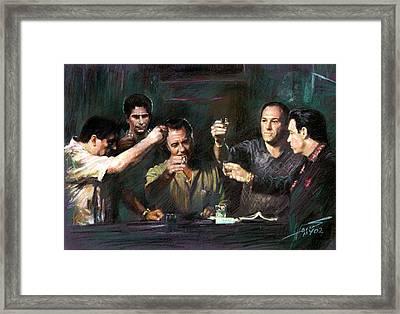 The Sopranos Framed Print by Viola El