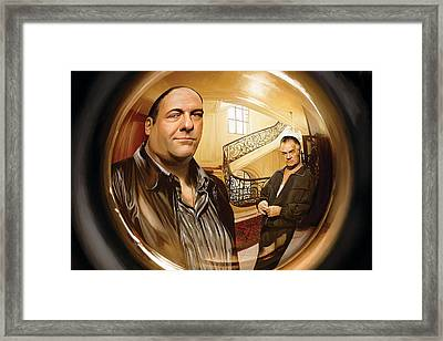 The Sopranos  Artwork 1 Framed Print by Sheraz A
