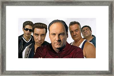 The Sopranos  Artwork 2 Framed Print by Sheraz A