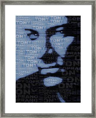 The Sopranos Tony Soprano Framed Print by Tony Rubino