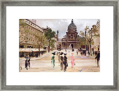 The Sorbonne Framed Print by Leon-Marie Coutil