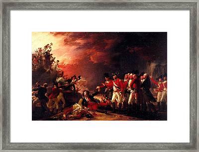 The Sortie From Gibraltar, 1788 Oil On Canvas Framed Print by John Trumbull