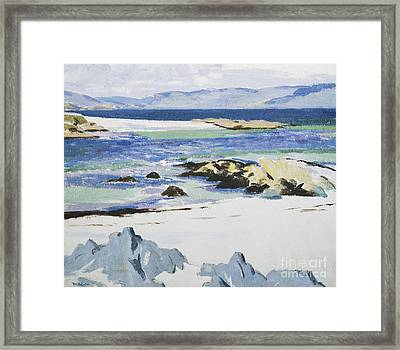 The Sound Of Mull From Iona Framed Print by Francis Campbell Boileau Cadell