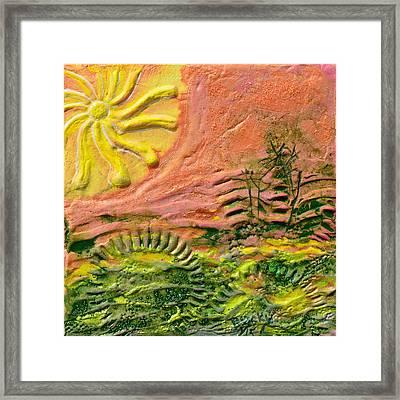 The Sound Of Sunshine Framed Print by Donna Blackhall