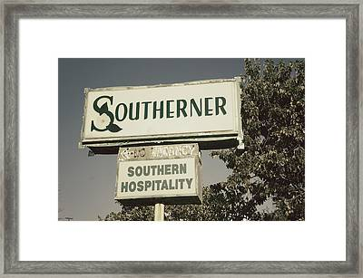 The Southerner Framed Print by Brandon Addis