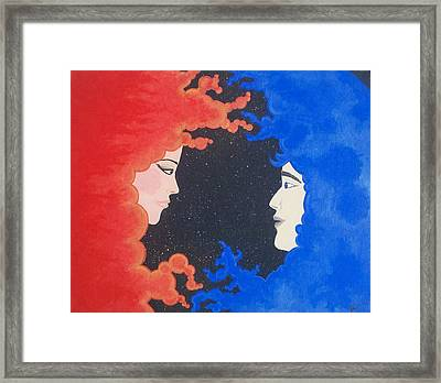 The Space Between Framed Print by Nina Giordano