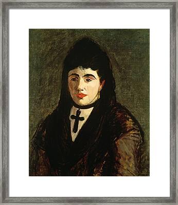 The Spaniard Framed Print by Edouard Manet