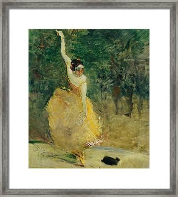 The Spanish Dancer Framed Print by Henri de Toulouse-Lautrec