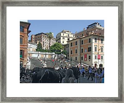 The Spanish Steps Framed Print by Harold Shull