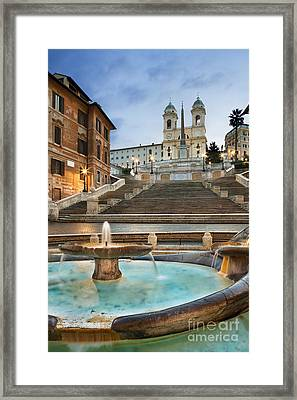 The Spanish Steps Framed Print by Rod McLean