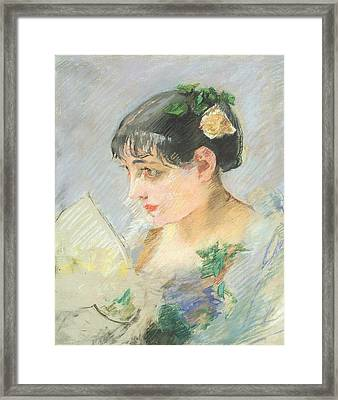 The Spanish Woman Framed Print by Eva Gonzales