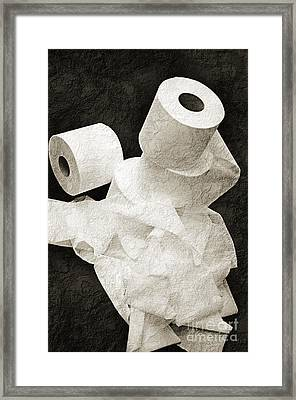 The Spare Rolls 1 - Toilet Paper - Bathroom Design - Restroom - Powder Room Framed Print by Andee Design
