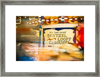 The Speed Of Light Framed Print by Colleen Kammerer