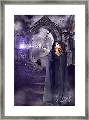 The Spell Is Cast Framed Print by Linda Lees