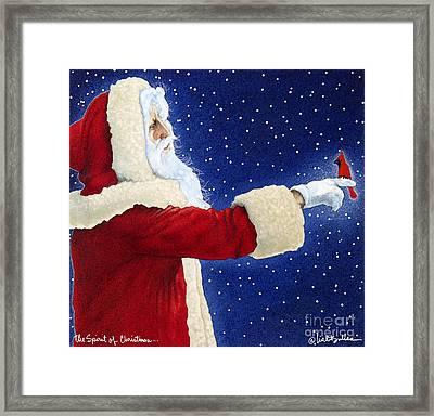 The Spirit Of Christmas... Framed Print by Will Bullas