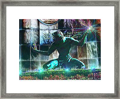 The Spirit Of Detroit Framed Print by Michael Rucker