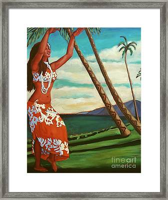 The Spirit Of Hula Framed Print by Janet McDonald