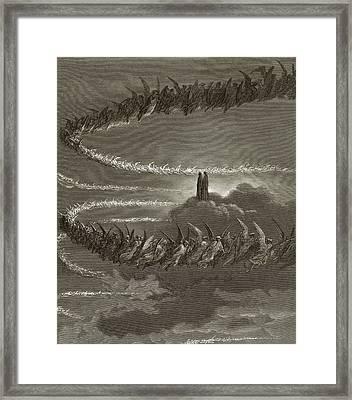 The Spirits In Jupiter Framed Print by Gustave Dore
