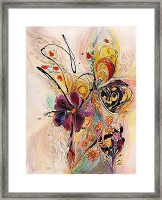 The Splash Of Life Series No 2 Framed Print by Elena Kotliarker