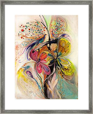 The Splash Of Life Series No 3 Framed Print by Elena Kotliarker