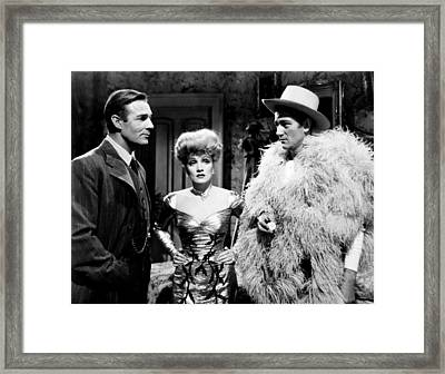 The Spoilers, From Left, Randolph Framed Print by Everett
