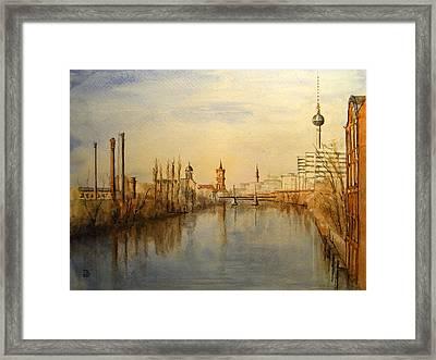 The Spree Berlin Framed Print by Juan  Bosco