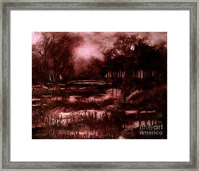 The Spring Eel Flooding Or Red And Green Don't Make Brown Framed Print by Charlie Spear