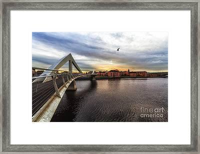 The Squiggly Bridge Framed Print by John Farnan