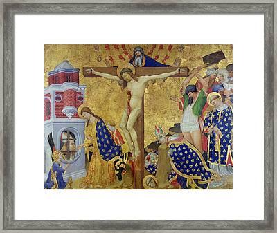 The St. Denis Altarpiece Framed Print by Henri Bellechose