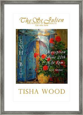 The St Julien Poster Framed Print by Tisha Wood