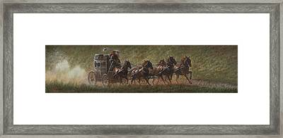 The Stage Coach Framed Print by Gregory Perillo