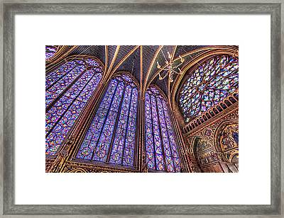 The Stained Glass Of La Sainte-chapelle Framed Print by Tim Stanley