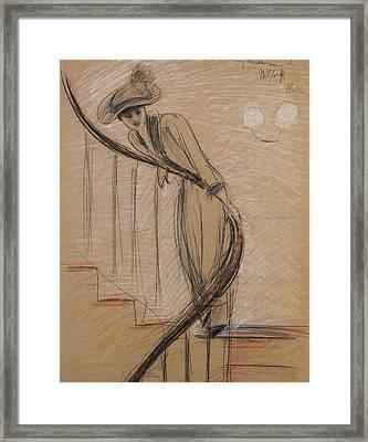 The Staircase Framed Print by Paul Cesar Helleu