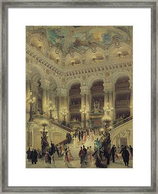 The Staircase Of The Opera Framed Print by Louis Beroud