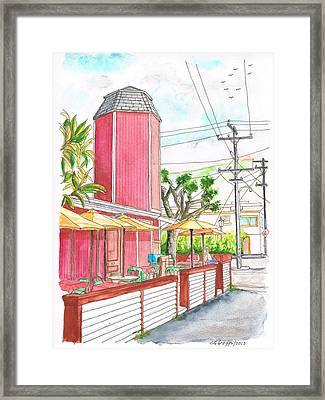 The Stand Cafeteria In Laguna Beach - California Framed Print by Carlos G Groppa