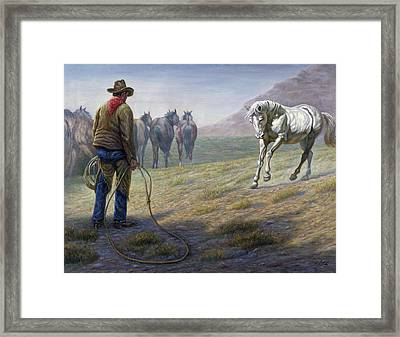 The Standoff Framed Print by Gregory Perillo