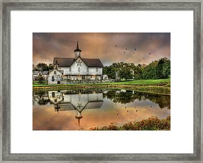 The Star Barn Framed Print by Lori Deiter