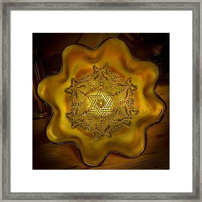 The Star Of David Framed Print by Michael J Samuels