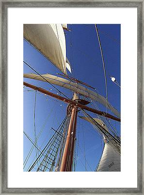 The Star Of India. Mast And Sails Framed Print by Ben and Raisa Gertsberg