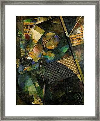 The Star Picture 1920 Framed Print by Kurt Schwitters