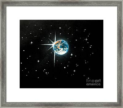 The Star Framed Print by Shasta Eone