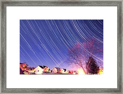 The Star Trails Framed Print by Paul Ge
