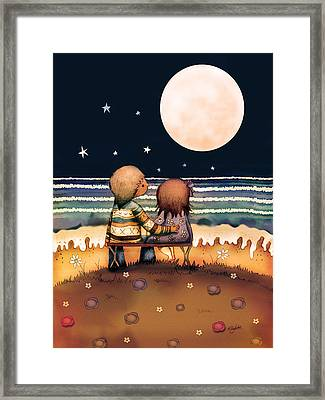 The Stars The Moon And The Tide Framed Print by Karin Taylor