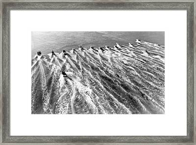 The Start Of The 160 Mile Miami To Nassau Powerboat Race Framed Print by Underwood Archives