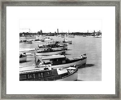 The Start Of The Liggett Trophy Race On The Detroit River In Mic Framed Print by Underwood Archives